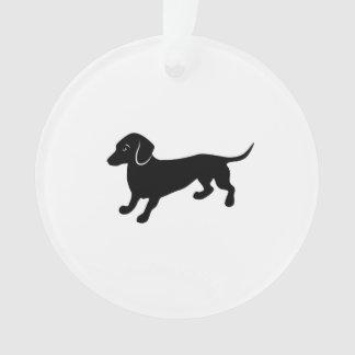 Black Dachshund Ornament