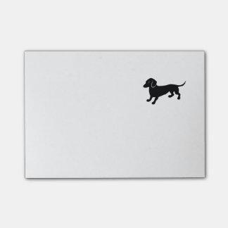 Black Dachshund Post-it Notes
