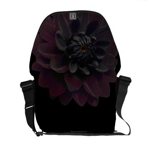 Black Dahlia Messenger Bag
