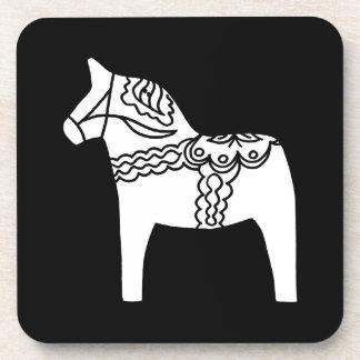 Black Dala Horse Coaster