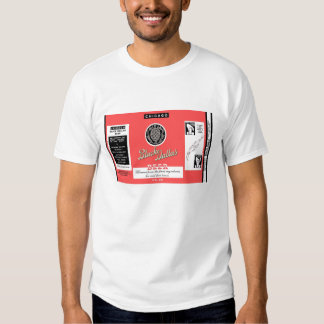 Black Dallas Beer Flat Top Instructional Can Label T Shirt