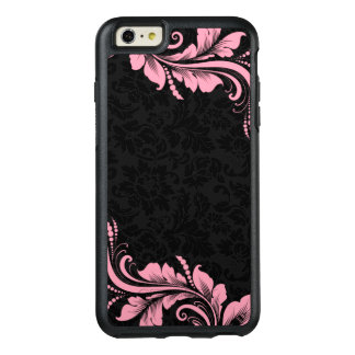 Black Damask And Pink Floral Lace OtterBox iPhone 6/6s Plus Case