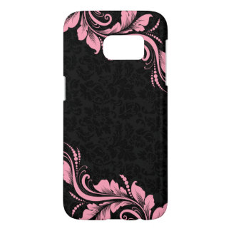 Black Damask And Pink Lace