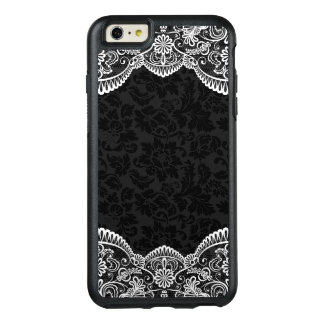Black Damask And White Lace OtterBox iPhone 6/6s Plus Case