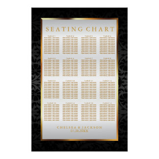 Black Damask and White Satin - Seating Chart