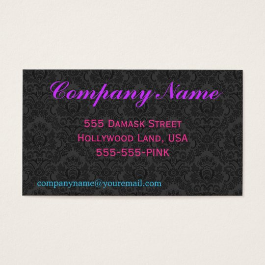 Black Damask Business Card