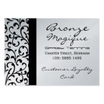 Black Damask Business Customer Loyalty Card Business Card Template