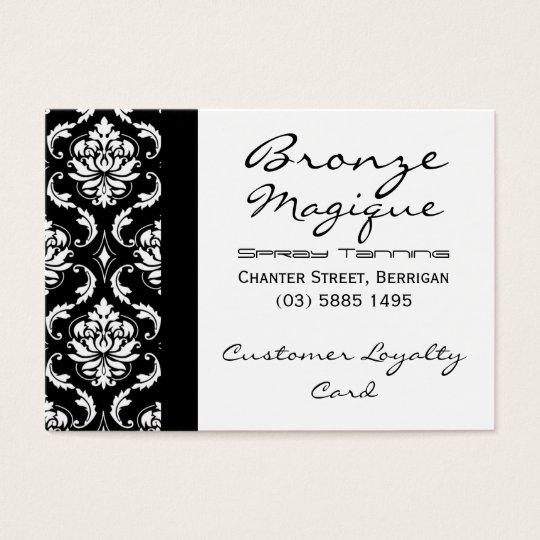Black Damask Business Customer Loyalty Cards