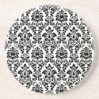 Black Damask Coaster