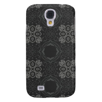 Black Damask Custom Case Samsung Galaxy S4 Covers