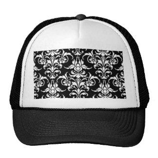 Black Damask Trucker Hats