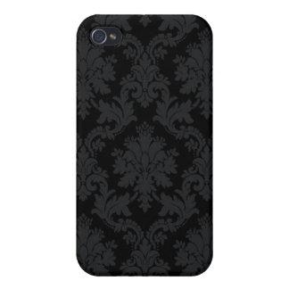 Black Damask iPhone 4 Case