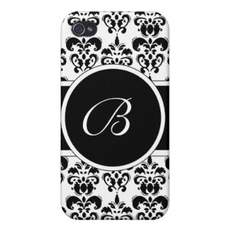 Black Damask iPhone 4 Cover