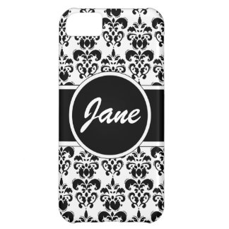 black damask iPhone 5C case
