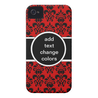 black damask on any color iPhone 4 case