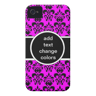 black damask on any color iPhone 4 Case-Mate case