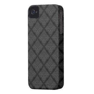 Black damask pattern case