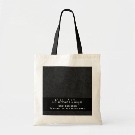 Black Damask Personalised Business Bag