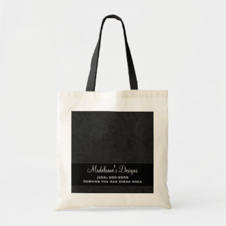 Black Damask Personalized Business Bag