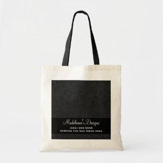 Black Damask Personalized Business Bag