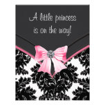 Black Damask Pink Princess Baby Shower