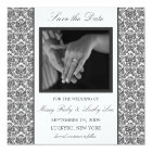 Black Damask Save the Date Announcement