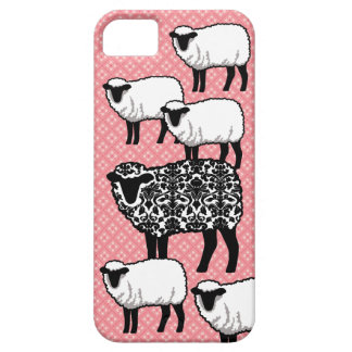Black Damask Sheep iPhone 5 Cases