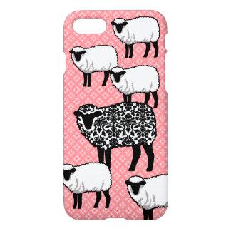 Black Damask Sheep iPhone 8/7 Case