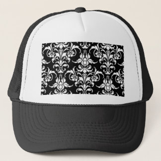 Black Damask Trucker Hat