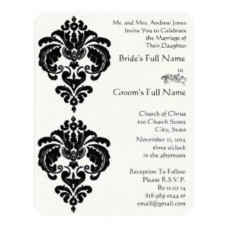 Black Damask Wedding Invitations