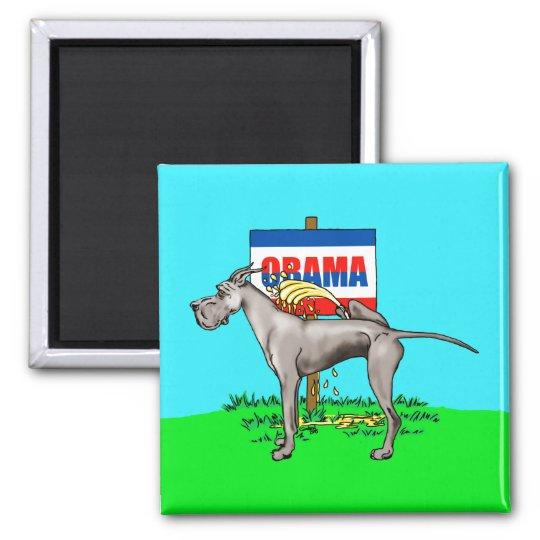 Black Dane Pi$$ on Obama Magnet