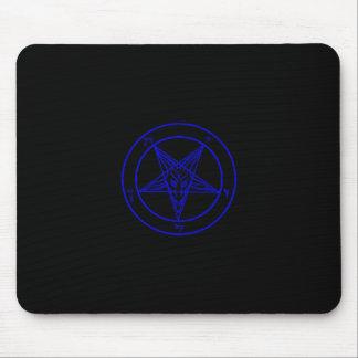 Black/Dark Blue Baphomet Mousepad
