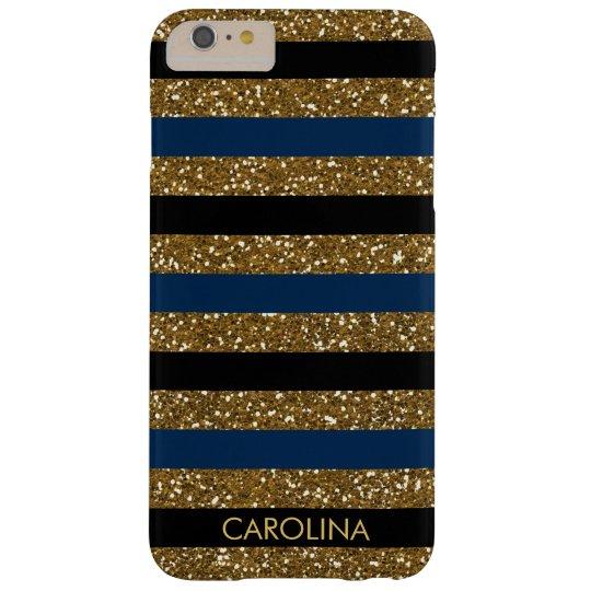 Black, Dark Blue & Gold Glitter, Personalised Barely