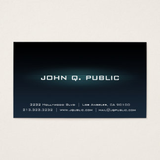 Black Dark Blue Gradient Professional Business Card