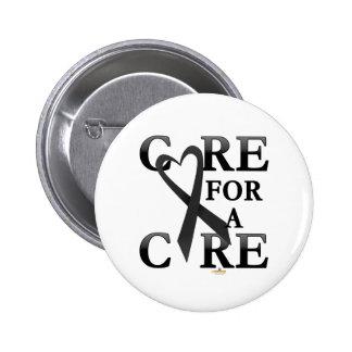 Black Dark Care For A Cure Design 6 Cm Round Badge