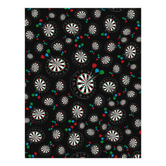 Black dartboard pattern 21.5 cm x 28 cm flyer
