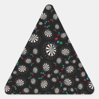 Black dartboard pattern triangle sticker