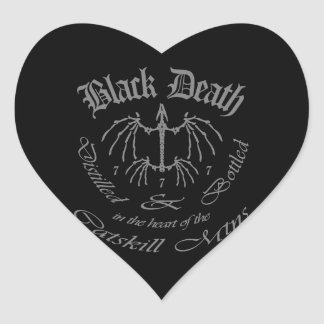 Black Death 777 - Catskill Mountains Heart Stickers