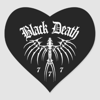 Black Death 777 - End of Season Heart Sticker