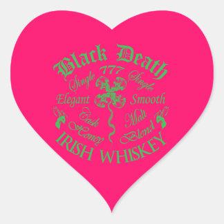 Black Death 777 - Honey Irish Whiskey Heart Sticker