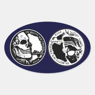 Black Death 777 - Liberty Oval Sticker