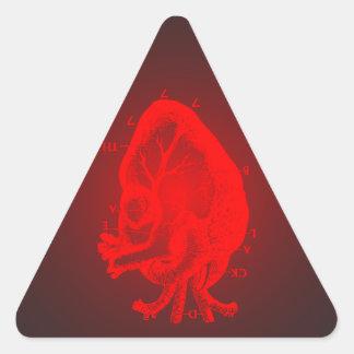Black Death 777 - St Valentine Brandy Triangle Sticker