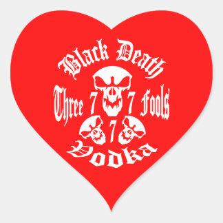 Black Death 777 - Three Fools Vodka Heart Sticker
