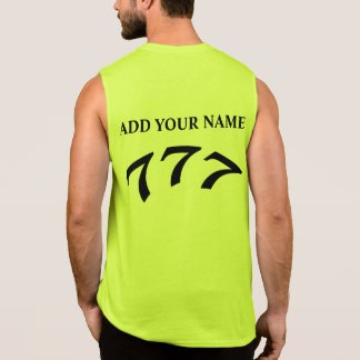 Black Death 777 - Your 777 (Add Your Name) Sleeveless Shirt
