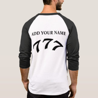 Black Death 777 - Your 777 (Add Your Name) T-shirt
