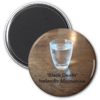 """Black Death"" Shot - Icelandic Moonshine Magnet"