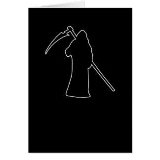 Black Death spooky figure Greeting Card