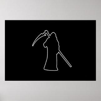 Black Death spooky figure Poster