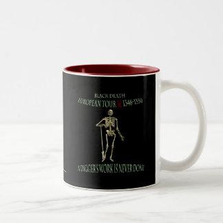 Black Death World Tour Original Design Two-Tone Coffee Mug