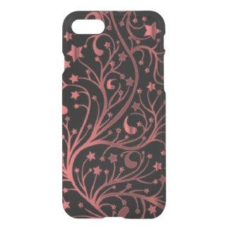 Black Decorative Metallic Red Look Stars iPhone 8/7 Case